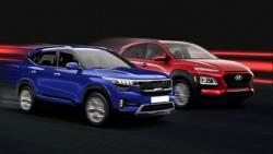 So kè Hyundai Kona và Kia Seltos bản cao cấp nhất.