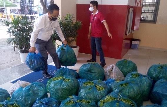 25 tấn rau củ quả theo tàu cao tốc từ miền Tây về TP.HCM