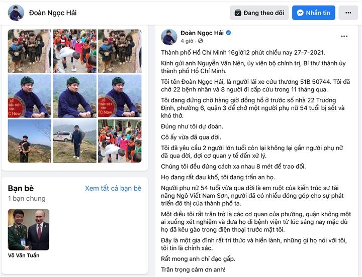 TP.HCM: Quận 3 xác minh thông tin ông Đoàn Ngọc Hải đăng trên Facebook - 1