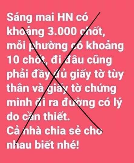 Phạt người tung tin 'Hà Nội lập 3.000 chốt kiểm soát' - 1