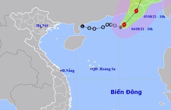 Áp thấp nhiệt đới mạnh thành bão số 4