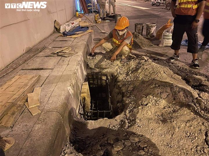 Hà Nội: Xuyên đêm sửa hầm Kim Liên sau 12 năm đưa vào vận hành - 4