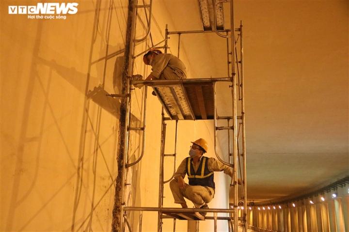 Hà Nội: Xuyên đêm sửa hầm Kim Liên sau 12 năm đưa vào vận hành - 7
