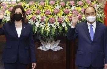 Ảnh: Chủ tịch nước tiếp Phó Tổng thống Mỹ Kamala Harris