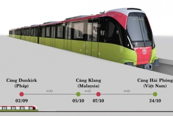 Cuối tháng 10-2020, đoàn tàu đầu tiên của tuyến metro Nhổn- Ga Hà Nội về nước