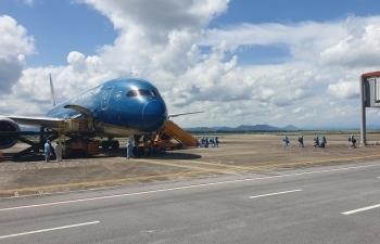 Sân bay Vân Đồn đón chuyến bay đầu tiên thí điểm khách có