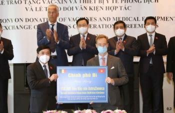Chính phủ Vương quốc Bỉ, các tổ chức, kiều bào tặng Việt Nam lô thiết bị chống dịch trị giá 536,5 tỷ đồng