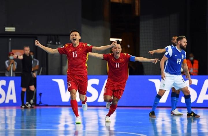 World Cup futsal 2021: Tuyển Việt Nam ghi bàn vẫn thua đậm Brazil - 2