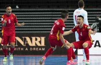 Xem trực tiếp Việt Nam vs Nga vòng 1/8 World Cup futsal 2021 trên kênh nào?
