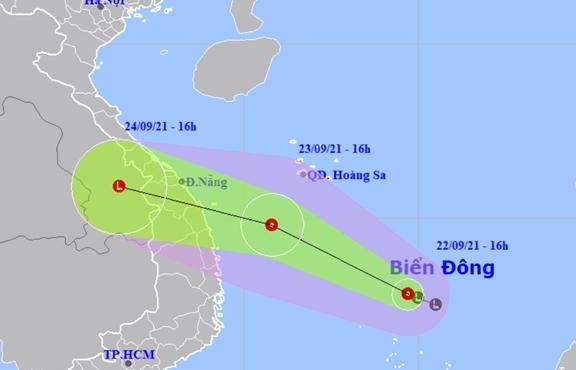 Chuyên gia: Bão có thể ảnh hưởng đến đất liền miền Trung ngay chiều và đêm mai