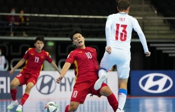 Trực tiếp bóng đá Việt Nam vs Nga vòng 1/8 World Cup futsal 2021