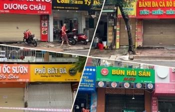 Hà Nội sau 1 tuần nới giãn cách: Đồ bán mang về vắng khách, có quán chưa mở cửa