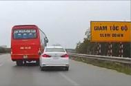 phat tai xe xe khach lang lach danh vong truoc dau xe con tren cao toc 75 trieu dong