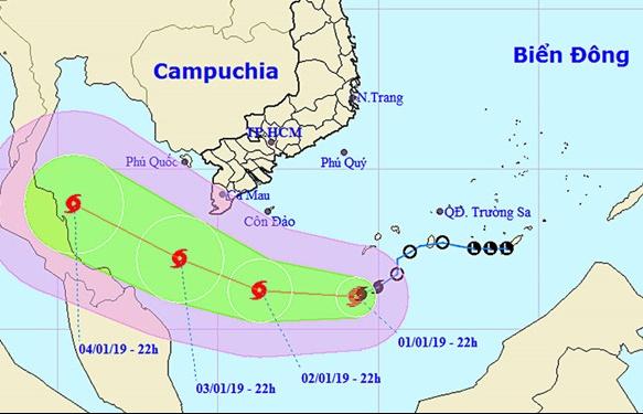Tối nay, bão số 1 cách mũi Cà Mau 300 km