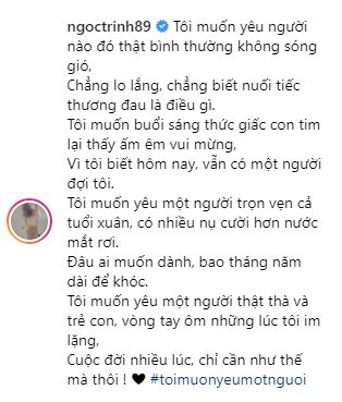 dang hanh phuc ben ban trai moi ngoc trinh bat ngo tam su buon ve tinh yeu