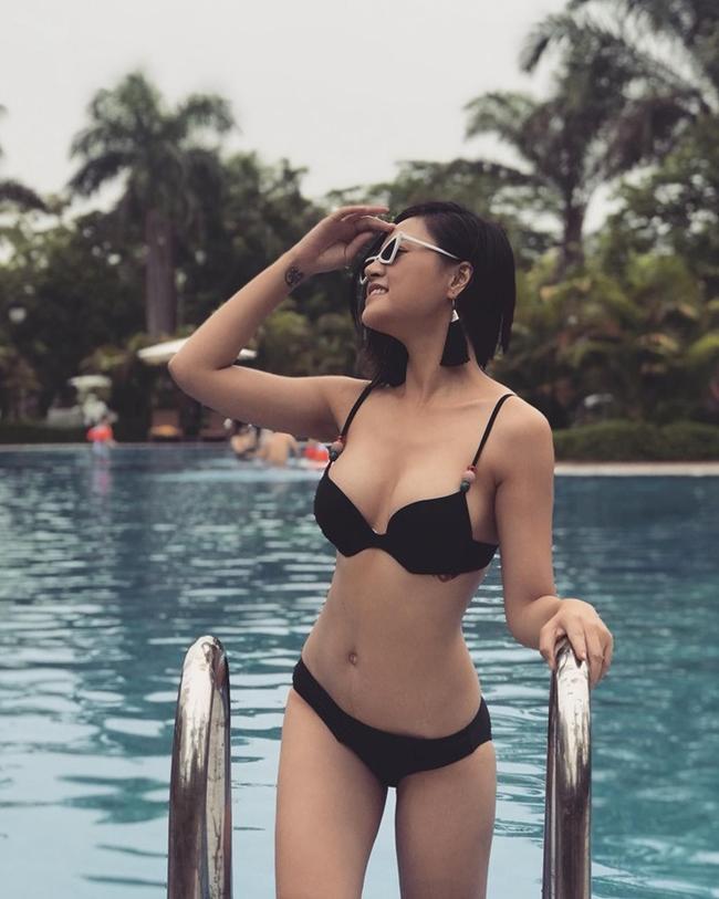 dan my nhan gay sot trong phim gio vang vtv nong bong voi bikini