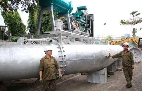 TP.HCM bảo vệ siêu máy bơm dù không ai phá hoại