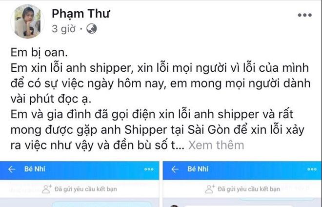 phan no shipper grab bi bung tra sua tien trieu ca nha co gai len tieng mong tha thu
