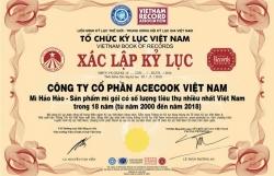 Mỳ ăn liền Hảo Hảo xác lập kỷ lục Mỳ Gói được tiêu thụ nhiều nhất trong 18 năm qua tại Việt Nam