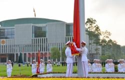Nghi lễ thượng cờ ngày Quốc khánh 2/9 ở Lăng Chủ tịch Hồ Chí Minh