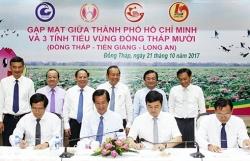 TP HCM liên kết phát triển với ba tỉnh Đồng Tháp Mười