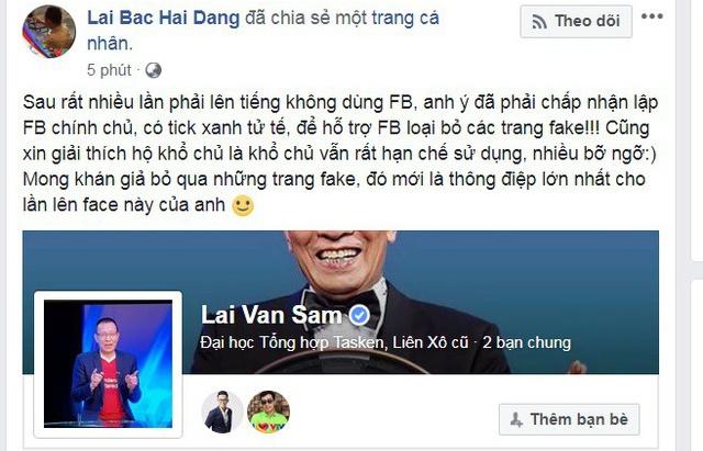 mc lai van sam quyet dinh dap tan nhung ke mao danh hen ha tren facebook