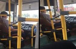 Vừa lái xe vừa dùng điện thoại, tài xế xe buýt Hà Nội bị đình chỉ việc