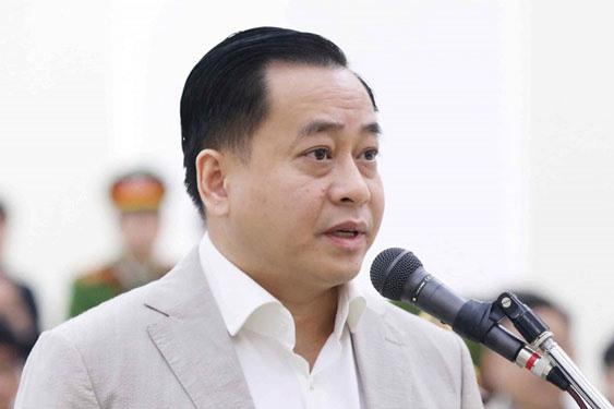 Bị cáo Phan Văn Anh Vũ tại phiên tòa sơ thẩm. Ảnh: TTXVN.