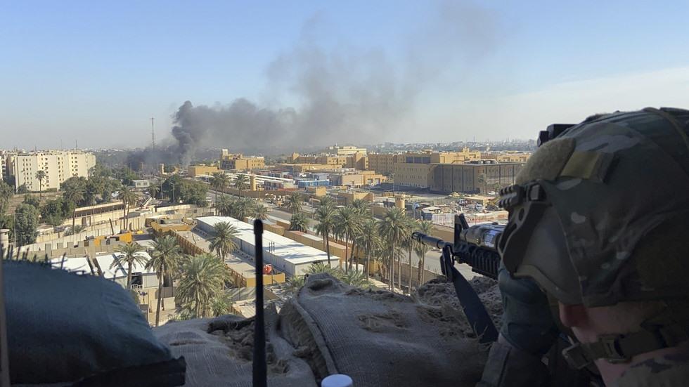 Căn cứ Mỹ ở Iraq bị tấn công hôm 12.1. Ảnh: RT.