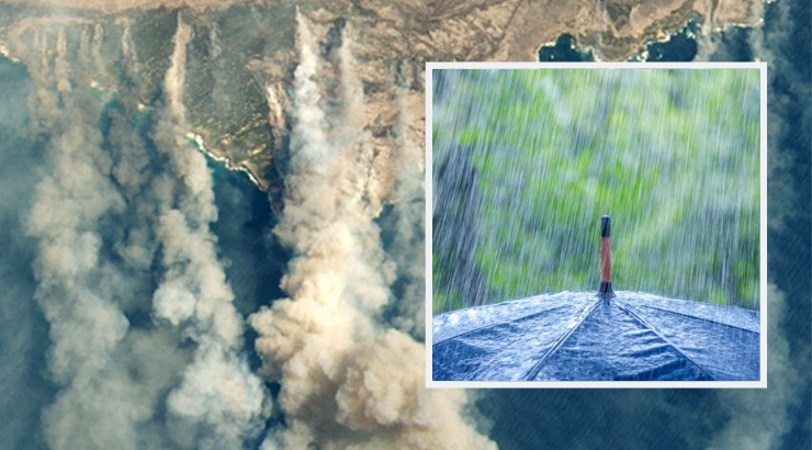 Những cơn mưa xuất hiện trong tình hình cháy rừng dữ dội ở Australia mang đến hy vọng mới. Ảnh: TMU