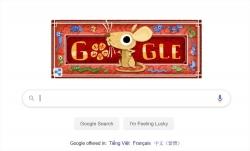 doodle chuc mung nam moi cua google chuc tet canh ty rieng viet nam