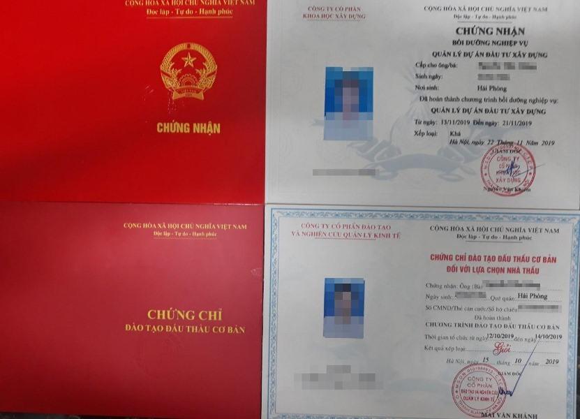 chung chi dau thau quan ly du an khong hoc khong thi van cap