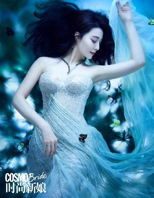 Phạm Băng Băng diện váy cưới đẹp như tiên tử - Ảnh 1