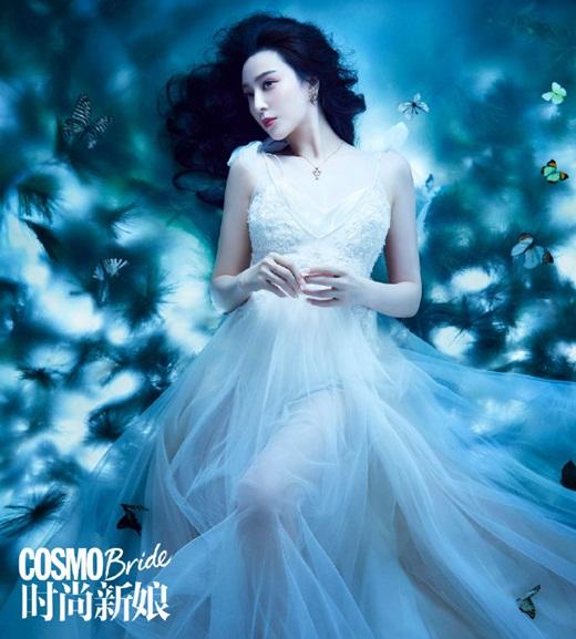 Phạm Băng Băng diện váy cưới đẹp như tiên tử - Ảnh 3