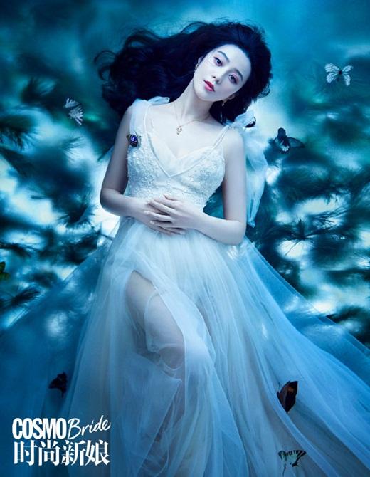 Phạm Băng Băng diện váy cưới đẹp như tiên tử - Ảnh 6