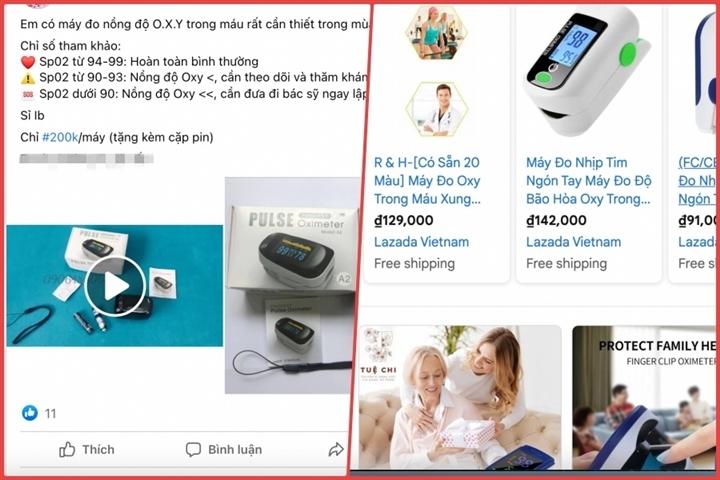 Máy đo oxy giá bèo nhan nhản chợ 'mạng', Bộ Công Thương cảnh báo - 2