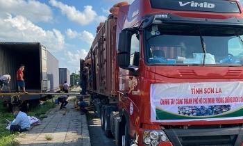 105 tấn nông sản từ Sơn La chuyển vào TP.HCM hỗ trợ người dân chống dịch