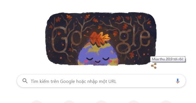 hinh anh trai dat va chiec la vang tren google doodle hom nay co y nghia gi
