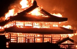 Cháy lớn phá hủy lâu đài cổ 600 năm tuổi tại Nhật Bản