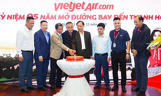 Vietjet đạt 2,2 triệu lượt khách sau 5 năm mở đường bay Thanh Hóa