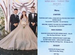 Thực đơn tiệc cưới nhà đại gia Việt