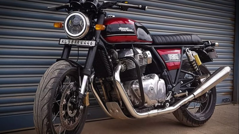 ngam nhin phien ban do cua royal enfield interceptor int 650