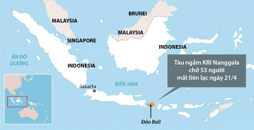 Tàu ngầm Indonesia có nguy cơ không thể cứu