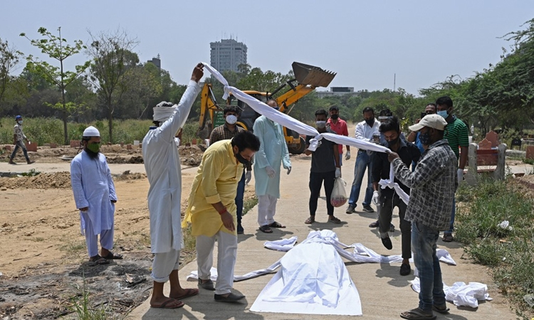 Ca tử vong và nhiễm Covid-19 Ấn Độ lại tăng kỷ lục