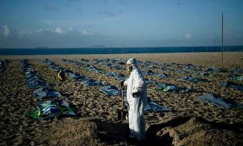 82.000 người Brazil chết vì Covid-19 trong một tháng