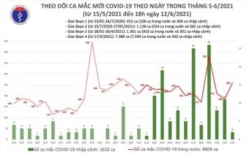 Chiều 12/6, Việt Nam có thêm 104 người mắc COVID-19, TP.HCM nhiều nhất