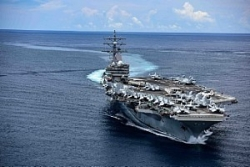 Nhóm tác chiến tàu sân bay Mỹ Ronald Reagan tập trận ở Biển Đông