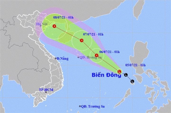 Dự báo thời tiết ngày 5/7: Bắc Bộ mưa lớn, vùng áp thấp tiến vào Biển Đông - 2