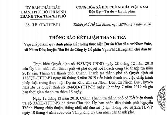 sai pham tai khu dan cu nhon duc cong ty van phat hung xay vung ban chui 370 nen dat