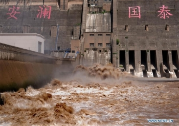 Mưa lũ Trung Quốc chuyển miền bắc, đến lượt sông Hoàng Hà chịu trận